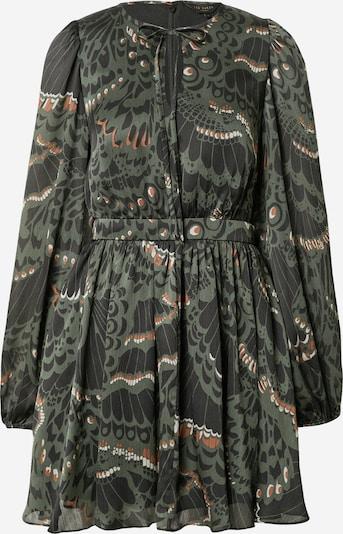 Ted Baker Robe-chemise 'Chrissy' en rouille / vert / noir / blanc, Vue avec produit