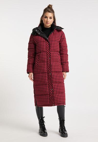 myMo ROCKS Abrigo de invierno en rojo pastel / negro, Vista del modelo
