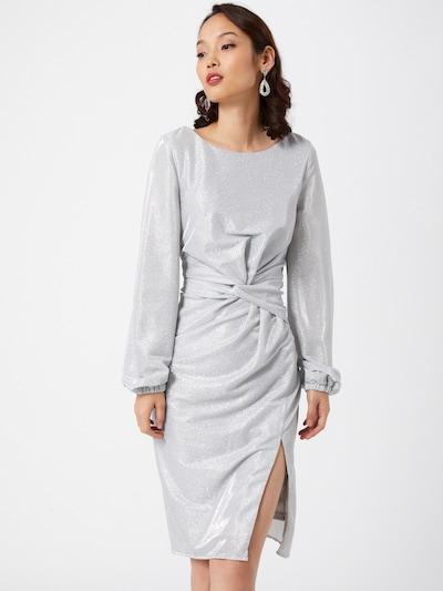 Chi Chi London Koktel haljina 'Freya' u srebro, Prikaz modela