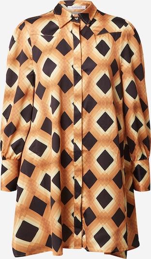 Rochie tip bluză GLAMOROUS pe cappuccino / maro deschis / maro închis, Vizualizare produs