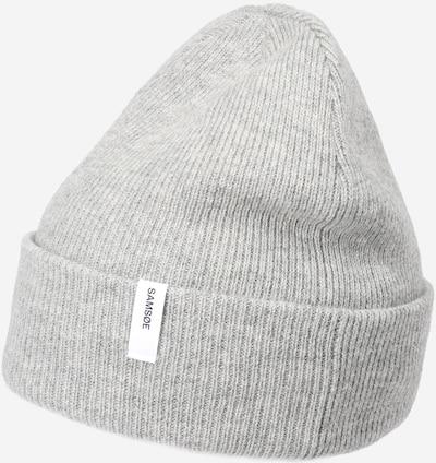 Megzta kepurė iš Samsoe Samsoe , spalva - margai pilka, Prekių apžvalga