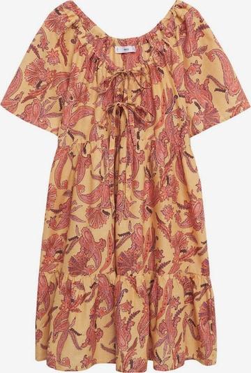 MANGO Kleid 'Indra' in senf / aubergine / koralle, Produktansicht