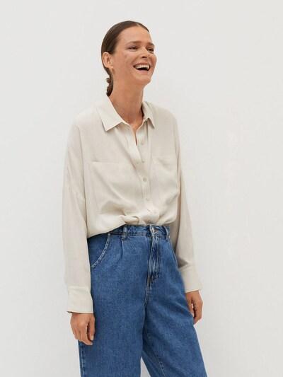 MANGO Bluza 'Fog' | svetlo siva barva, Prikaz modela