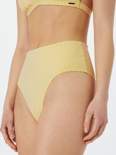 Superdry Bikinihose in gelb / weiß, Modelansicht