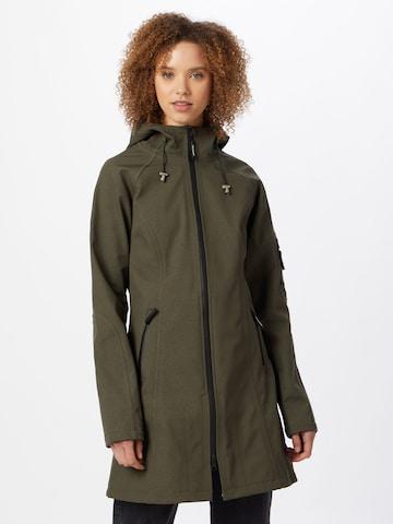 ILSE JACOBSEN Between-Seasons Coat in Green