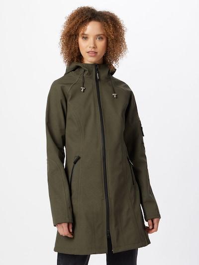 ILSE JACOBSEN Overgangsfrakke i khaki, Modelvisning