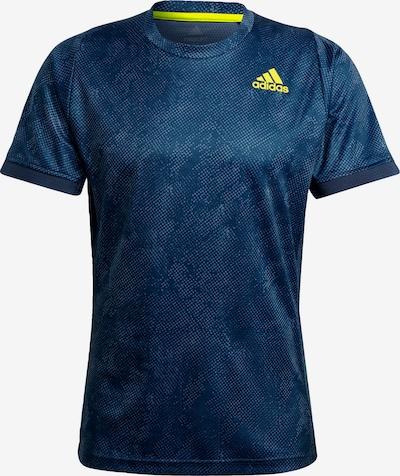 ADIDAS PERFORMANCE T-Shirt in blau / neongelb, Produktansicht