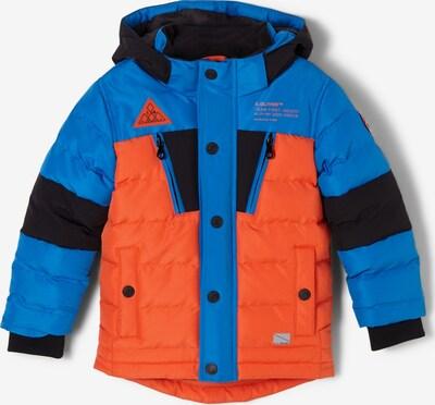 s.Oliver Jacke in blau / orange / schwarz, Produktansicht
