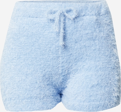 Miss Selfridge (Petite) Pantalon 'EYELASH' en bleu clair, Vue avec produit