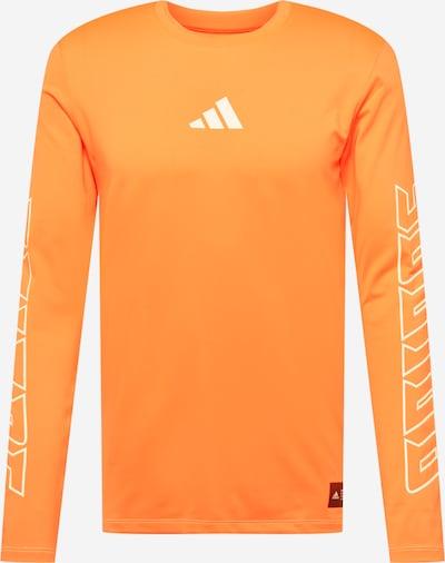 ADIDAS PERFORMANCE T-Shirt fonctionnel 'FB HYPE' en orange / blanc, Vue avec produit