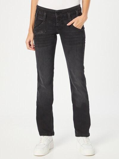 FREEMAN T. PORTER Jeans 'Amelie' in black denim, Modelansicht