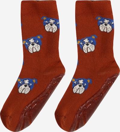 EWERS Čarape u kraljevsko plava / bakrena / žuta / crna / bijela, Pregled proizvoda