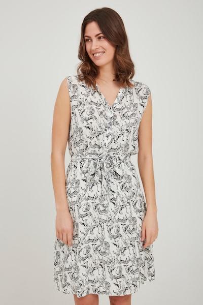 Fransa Sommerkleid in grau / weiß, Modelansicht