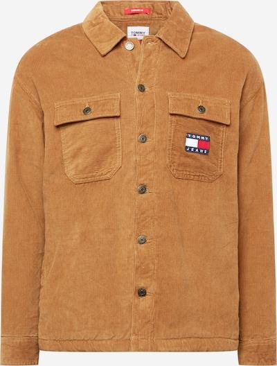 Geacă de primăvară-toamnă Tommy Jeans pe albastru închis / maro caramel / roșu / alb, Vizualizare produs