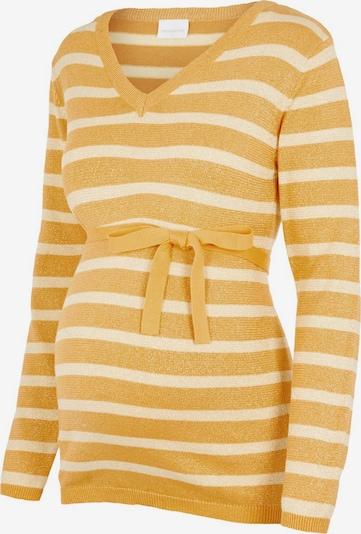 MAMALICIOUS Trui in de kleur Geel / Wit, Productweergave