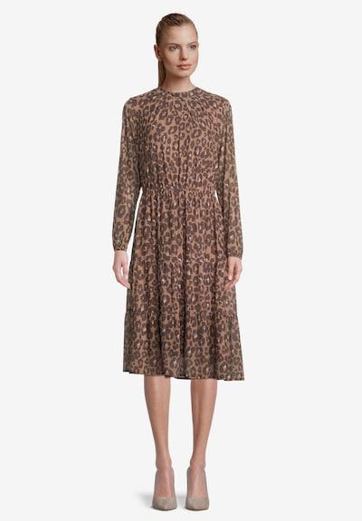 Betty & Co Kleid in creme / kastanienbraun / dunkelbraun, Modelansicht