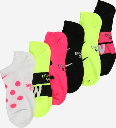 NIKE Sportovní ponožky - svítivě žlutá / šedá / pink / černá / bílá, Produkt