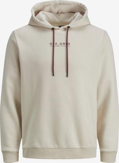 JACK & JONES Sweatshirt in hellgrau / dunkelgrau / bordeaux / schwarz, Produktansicht