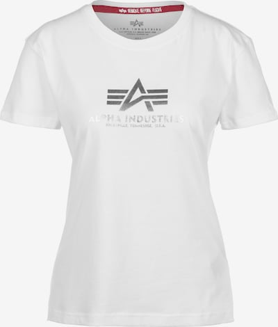 ALPHA INDUSTRIES Shirt in Silver / White, Item view