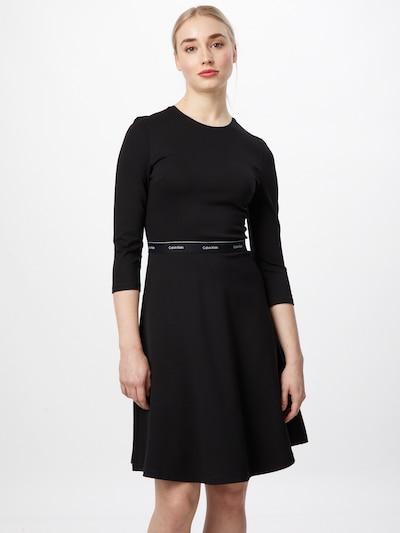 Calvin Klein Šaty 'Milano' - černá / bílá, Model/ka
