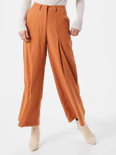 VILA Pantalon 'Janine' en orange, Vue avec modèle