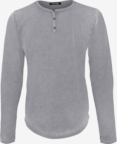 trueprodigy Langarmshirt Premium Basic Ashton im Slim-Fit in grau: Frontalansicht