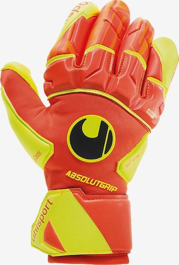 UHLSPORT Handschuhe in gelb / orangerot, Produktansicht