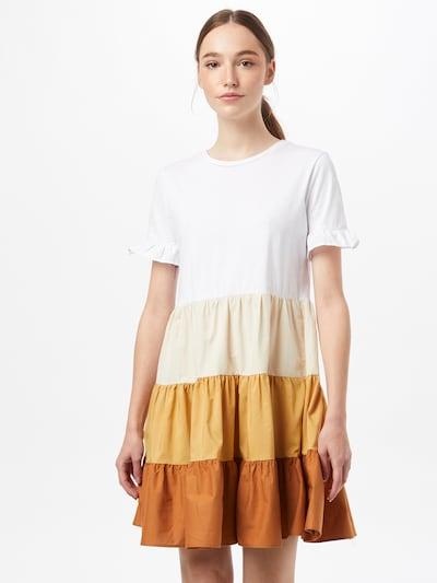 Trendyol Šaty - krémová / velbloudí / světle béžová / bílá, Model/ka