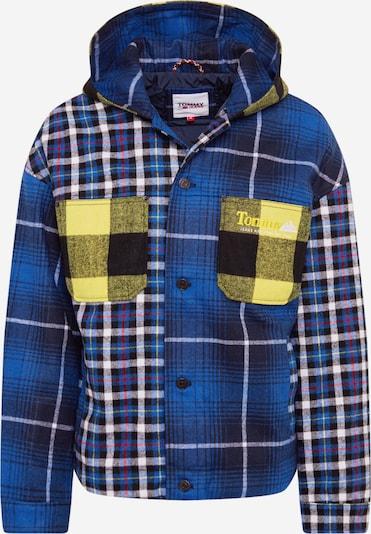 Tommy Jeans Tussenjas in de kleur Blauw / Lichtgeel / Gemengde kleuren / Zwart / Wit, Productweergave