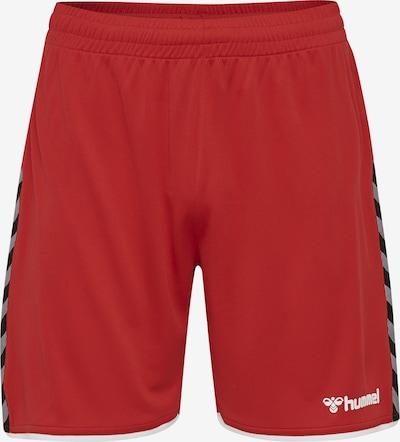 Hummel Shorts 'Poly' in basaltgrau / rot / schwarz / weiß, Produktansicht