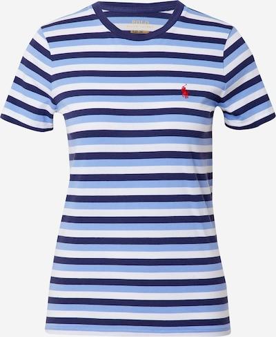 POLO RALPH LAUREN T-shirt en bleu marine / bleu clair / blanc, Vue avec produit