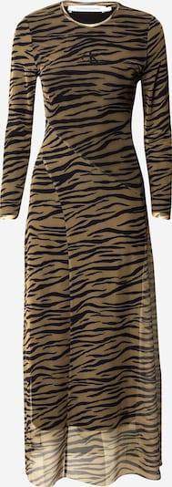 Calvin Klein Jeans Kleid 'Zebra' in beige / schwarz, Produktansicht