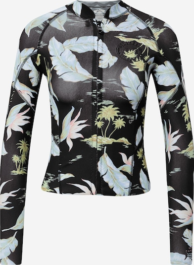BILLABONG Camiseta funcional 'PEEKY' en azul ahumado / amarillo claro / rosa / negro, Vista del producto