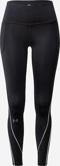 UNDER ARMOUR Pantalon de sport 'Rush' en noir / blanc, Vue avec produit