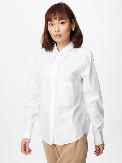 BOSS Casual Bluse 'Bemanew' in weiß, Modelansicht