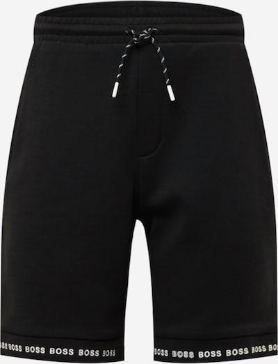 Pantaloni 'Headlo 1' BOSS ATHLEISURE pe negru / alb, Vizualizare produs