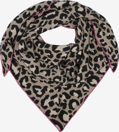 Zwillingsherz Tuch in beige / pink / schwarz, Produktansicht
