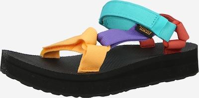 Sandale TEVA pe albastru aqua / galben / lila / portocaliu închis, Vizualizare produs
