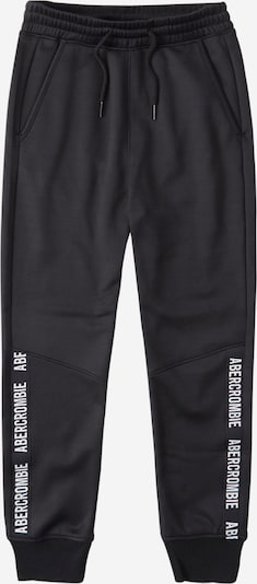Abercrombie & Fitch Trousers in black / white, Item view