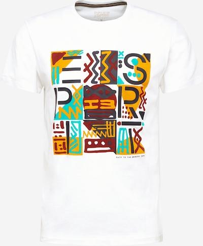 ESPRIT Shirt in de kleur Turquoise / Donkergrijs / Lichtoranje / Bloedrood / Offwhite, Productweergave