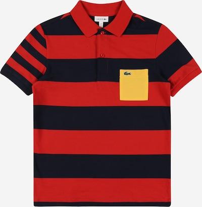 LACOSTE T-Shirt en bleu marine / jaune / rouge, Vue avec produit
