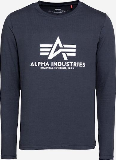 ALPHA INDUSTRIES Shirt in navy / weiß, Produktansicht