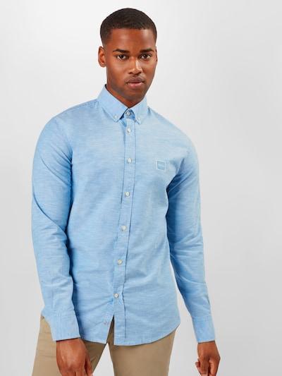 Dalykiniai marškiniai 'Mabsoot' iš BOSS , spalva - mėlyna dūmų spalva: Vaizdas iš priekio