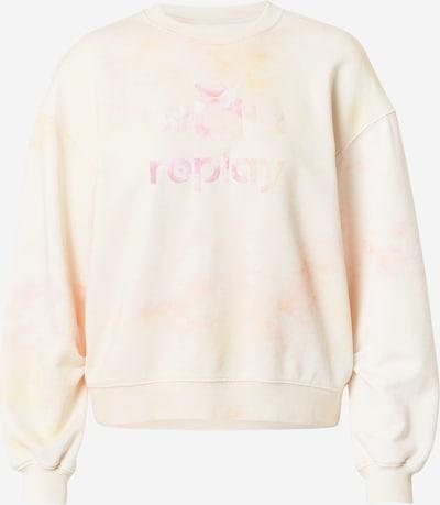 REPLAY Sweatshirt in beige / rosa, Produktansicht