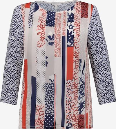 Gina Laura Shirt in dunkelblau / orange / offwhite, Produktansicht