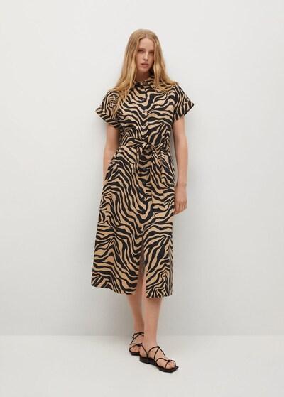 Rochie tip bluză 'PATAGON' MANGO pe maro deschis / negru, Vizualizare model