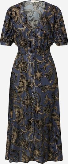 sessun Blousejurk 'WAYAN' in de kleur Taupe / Navy / Goud / Zwart, Productweergave