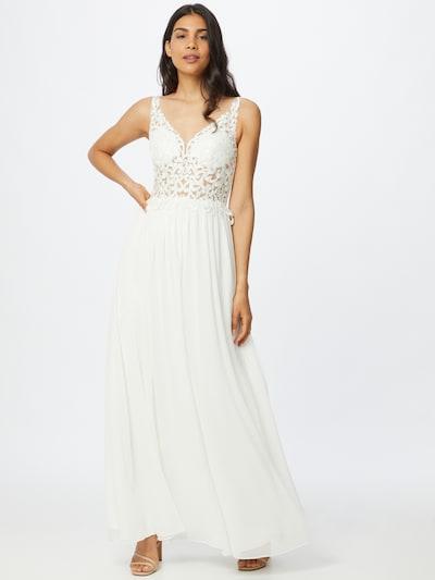 Rochie de seară 'HOT FIX LACE' mascara pe alb, Vizualizare model