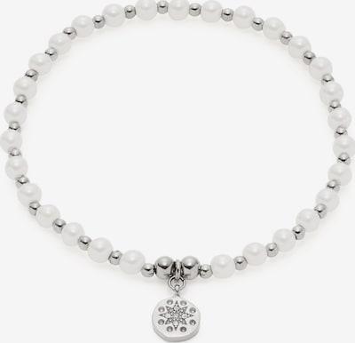 LEONARDO Armband in silber / weiß, Produktansicht