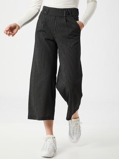 JACQUELINE de YONG Kalhoty - černá / bílá, Model/ka